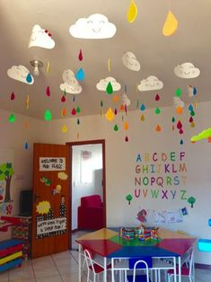 Class decoration, school decorations, classroom walls, classroom decor, a. Classroom Ceiling Decorations, Preschool Classroom Decor, Classroom Board, Toddler Classroom, Classroom Decor Themes, Classroom Walls, School Decorations, Preschool Crafts, Crafts For Kids