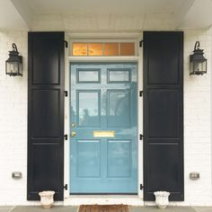 High Gloss Front Door // Hollandlac Brilliant from Fine Paints of Europe // Palette Paint in Charlottesville, Va and Richmond, VA Exterior House Colors, Exterior Doors, Black Exterior, Fine Paints Of Europe, High Gloss Paint, French Style Homes, Painted Front Doors, Painted Metal, Best Paint Colors
