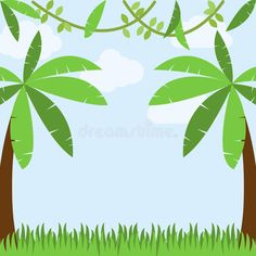 Descargar Jungle Or Zoo Theme Animal Background Illustration . - safari - Home Zoo Animals, Woodland Animals, Collage Illustration, Illustration Jungle, Chalkboard Drawings, Theme Background, Tropical Birds, Cartoon Images, Trees To Plant