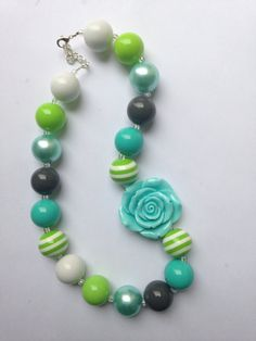 Chunky beaded necklace Bubble gum necklace by GlitzNGlamAndMore, $18.00