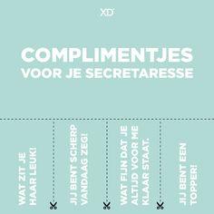 Secretaressedag - complimentjes voor je secretaresse