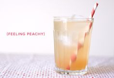 Just Peachy - great way to use peaches that are getting slightly past their prime!