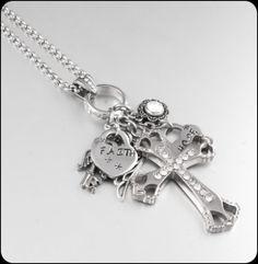 Cross Jewelry Cross Pendant Religious Jewelry by BlackberryDesigns, $78.00