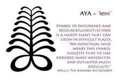 Aya - fern tattoo meaning