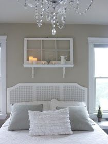 Love the window/shelf over the bed. I have the window in front of my fireplace, maybe ill move it