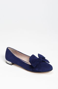 Miu Miu Moccasin available at Nordstrom Shoe Boots, Shoes Sandals, Sparkle Heels, Wedding Shoes Heels, Miu Miu Shoes, Bow Flats, Comfy Shoes, Dream Shoes, Types Of Shoes