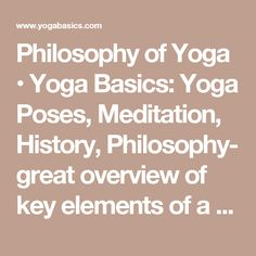 The main philosophy of yoga is simple: mind, body and spirit are all one and cannot be clearly separated. Yet there is a multitude of philosophical ideas developed by looking into the deeper dimensions of the body, mind and spirit. Law Of Karma, Yoga Philosophy, Basic Yoga, Yoga Teacher Training, Yoga For Kids, Tantra, Yoga Poses, Meditation, Mbs