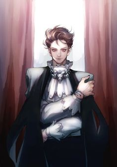 Oikawa looks like a vampire here! But he always looks like Prince from the clothes!