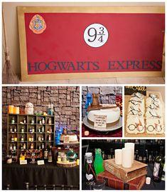 Harry Potter themed birthday party with SO MANY AWESOME IDEAS via Kara's Party Ideas! full of decorating ideas, desserts, cakes, recipes, fa...