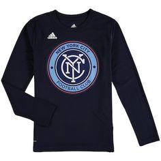 MLS Nycfc Adult Men Tri-Line Premium Cotton Tee Collegiate Navy Small
