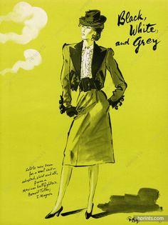 René Bouët-Willaumez 1942 Bonwit Teller, Saks Fifth Avenue Originals
