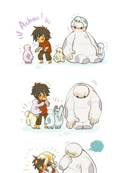 Hiro, Baymax, and baby Baymaxes?