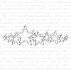 Simon Says Stamp STARS PARADE Craft Die S227