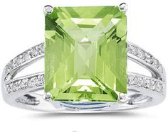 Peridot ring ~ The ancients believed that peridot had the power to ward off evil spirits, nightmares and enchantments.