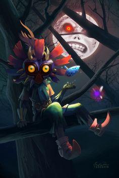 Skull Kid Dragon Ball Link Zelda The Legend Of Fanart Saga