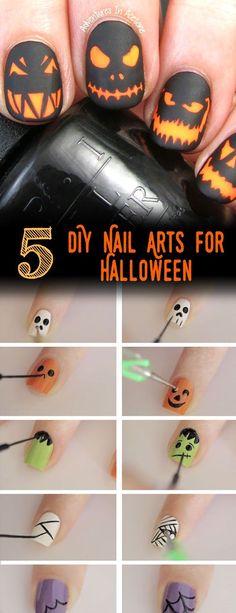 nice 5 Awesome DIY Nail Arts for Halloween | Creative DIYs
