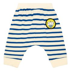 Puddling Badge Striped Organic Cotton Harem Trousers-product