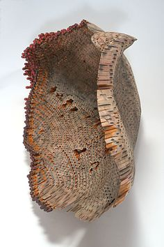 Jessica Drenk.  sculpture made of pencils.***Research for possible future project.  (wow - never ceases to amaze me what some folks come up with,,,)