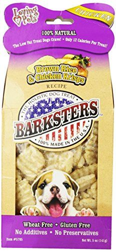 Loving Pets Barksters Brown Rice and Chicken Krisps, Dog Treat, 5-Ounce -- Click image for more details.