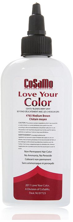 Love Your Color Cosamo Non Permanent Hair Color, Brown, Medium * More info could be found at the image url. (This is an affiliate link and I receive a commission for the sales)