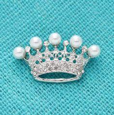 Pearl Brooch, Crystal Brooch, Silver Brooch, Crystal Rhinestone, Brooch Pin, Women's Brooches, Vintage Brooches, Peacock Jewelry, Bridal Brooch Bouquet