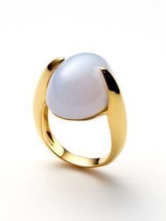 Tito Pedrini Ayla Blue Chalcedony Ring