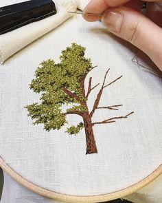 "4,146 Likes, 52 Comments - Professional Embroiderer (@delphil__) on Instagram: ""Un petit érable . . . . . . . . . . . . #maple #erable #foret #forest #arbre #greenlife #tree…"""