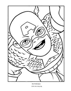 Captain America Super Hero Coloring Pages