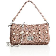 Miu Miu Crystal-Strap Jeweled Matelassé Velvet Pochette ($2,030) ❤ liked on Polyvore featuring bags, handbags, clutches, velvet purse, woven purses, miu miu purse, purse clutches and woven handbags