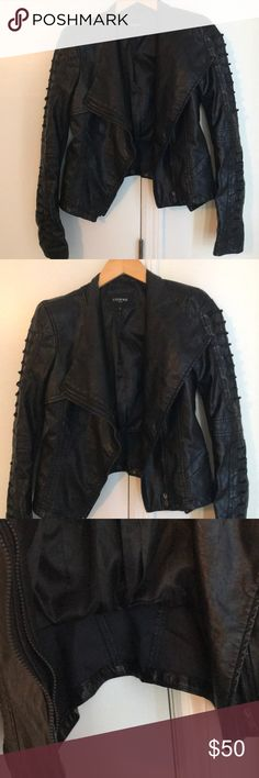 Faux leather Moto jacket 💥 Size small comme faux leather jacket in great condition 💕 Comme USA Jackets & Coats