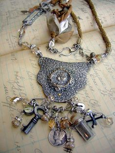 """Available for purchase at """"Katie Koos Gallery"""" San Francisco, CA Funky Jewelry, Unusual Jewelry, Old Jewelry, Metal Jewelry, Jewelry Crafts, Jewelry Art, Vintage Jewelry, Handmade Jewelry, Jewelry Design"""