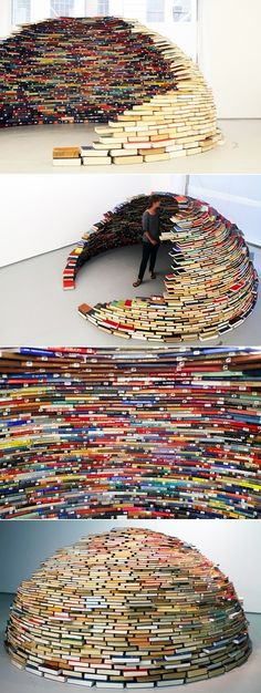 This would be fun to try at the library, but I'd be afraid it would collapse on the kids...