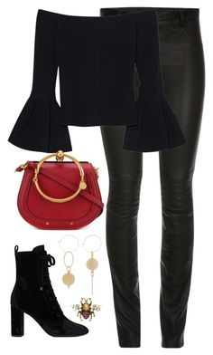 """""""Untitled #4409"""" by magsmccray on Polyvore featuring ElleSD, Alexis, Chloé, Yves Saint Laurent and Gucci"""