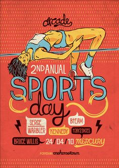 Retro/vintage sports poster by One Horse Town ~ Sports Day Poster, Sports Posters, Poster Design Layout, Design Posters, Sports Drawings, Sports Illustrated Models, Vintage Quotes, Sports Graphics, Kids Diet