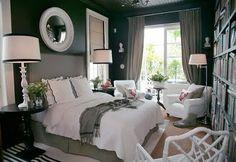 black bedroom walls - who would have thought this would be so warm and cozy
