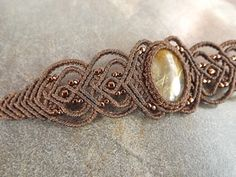 Macrame Bracelet Gold Rutilated Quartz Bracelet With by neferknots