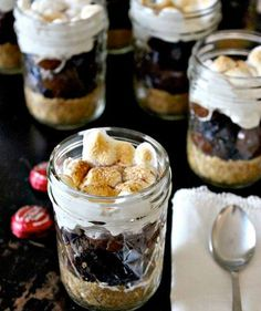 S'mores in a jar make the perfect campfire snack.