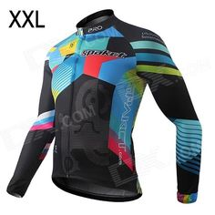 Brand: Spakct; Quantity: 1; Color: Multicolor; Material: Dacron; Size: 2XL; Gender: Men's; Best use: cycling; Suitable for: Adults; Length: 73 cm; Shoulder Width: 46 cm; Chest Girth: 114 cm; Suitable for Height: 172~180 cm; Sleeve Length: 86 cm; Features: Absorbs moisture and sweat quickly; Comfortable for long time wearing; With reflector, make your riding more safety; SBS full open zipper; Packing List: 1 x Jersey; http://j.mp/1ljC9JH