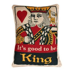Picture of Good To Be King Pillow 14X18-in