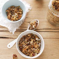 Make this crunchy, sugar-free granola from the book I Quit Sugar: Your Complete 8-Week Detox Program & Cookbook by Sarah Wilson, for a healthier way to start your day or a great snack