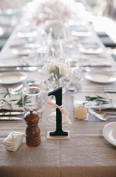 table number ideas (via weddingchicks)