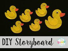 Step-by-step DIY felt board and Five Little Duck felt storyboard! Animal Templates, Felt Templates, Templates Printable Free, Felt Board Stories, Felt Stories, Felt Diy, Felt Crafts, Felt Board Patterns, Teaching The Alphabet