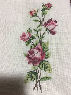 Diy And Crafts, Cross Stitch, Embroidery, Rose, Monogram Alphabet, Cross Stitch Rose, Herb, Cross Stitch Embroidery, Towels