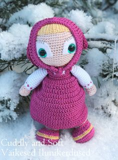 Masha  amigurumi doll by CuddlyandSoft on Etsy Masha is a little movie star. She is exceedingly naive, kind and unaffected little girl who makes everyone around feel the whole pallette of her kindness on their own skin. She lives in a small house near railway.