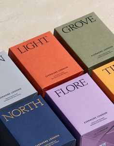 packaging evermore colour london candle boxes Colour Packaging Evermore London Candle BoxesYou can find Packaging inspiration and more on our website Candle Packaging, Soap Packaging, Print Packaging, Design Packaging, Packaging Ideas, Coffee Packaging, Bottle Packaging, Product Packaging, Design Food