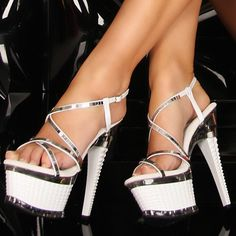 White high heels find more women fashion ideas Sexy High Heels, White High Heels, Beautiful High Heels, Hot Heels, Platform High Heels, Womens High Heels, Sexy Sandals, Shoes Sandals, Pantyhose Heels