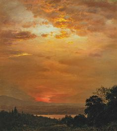 Looking West from Olana, 1864, Frederic Edwin Church