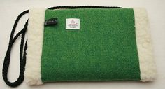 Harris Tweed Hand Muff in a Gorgeous Grass Green by Ten10Creations
