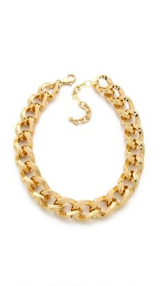 Gold Chain Necklace from Adia Kibur. www.topshelfclothes.com