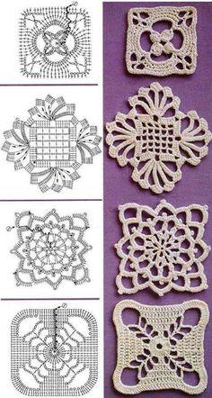 Irish Crochet squares